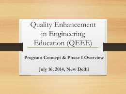 QEEE Phase-II Meeting (Presentation by IIT Madras)