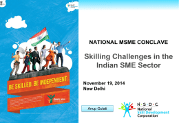 Presentation on Skilling Challenges in the Indian SME Sector