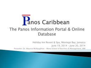The Panos Information Portal & Online Database