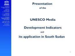UNESCO Media Development Indicators