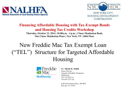 Shaun Smith - National Association of Local Housing Finance