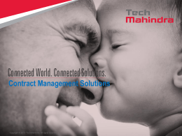 Tech Mahindra Contract Management Solutions