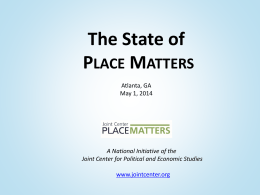 State of Place presentation by Brian Smedley