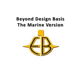 Electric Boat: Beyond Design Basis