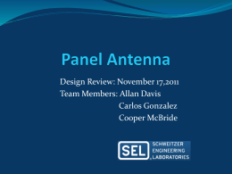 Panel Antenna - Senior Design