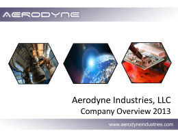 Aerodyne Overview PowerPoint Presentation