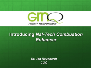 Naf-tech presentation Dr Jan Reynhart