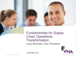 Fundamentals for Supply Chain Operations