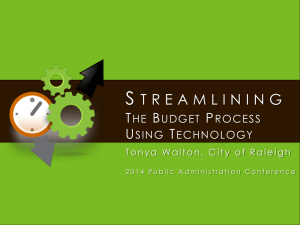 Streamlining the Budget Process Using Technology