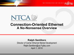 Connection-Oriented Ethernet - marcom