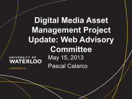 Digital Media Assets Update
