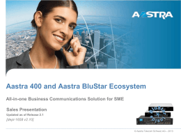 Aastra 400 Business Communication Solution