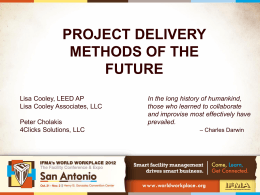 Project Delivery Methods FINAL FOR PRESENTATION