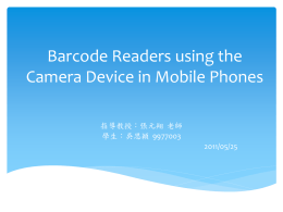 Barcode Readers using the Camera Device in Mobile Phones