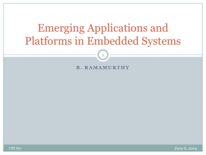 Emerging Applications in Embedded Systems
