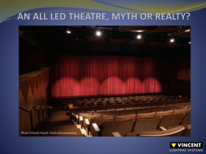 An All LED Theatre - Vincent Lighting Systems