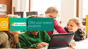 CRM and other Products