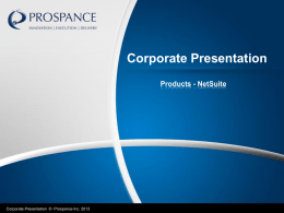 the PPT Netsuite Presentation