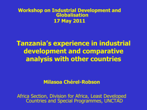 Dar Course on Industrial Development