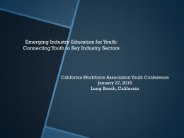 Emerging Industry Education for Youth