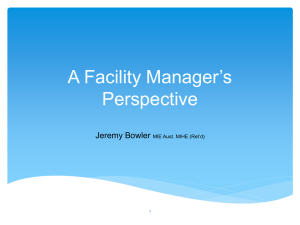 A Facility Managers Perspective