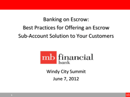 What is an escrow? - Windy City Summit
