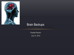 Brain Backups - RussellHanson