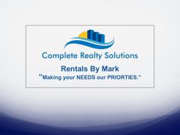 Rentals By Mark - Complete Realty Solutions