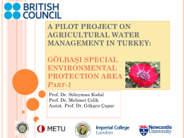 a pilot project on agricultural water management in turkey