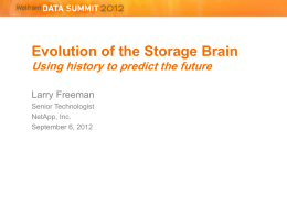 Evolution of the Storage Brain