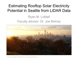 Estimating Rooftop Solar Electricity in Seattle from LIDAR Data