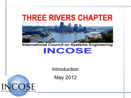 Introduction to INCOSE & Three Rivers Chapter