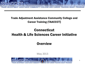 Panel Review Orientation: TAACCCT Program Grants