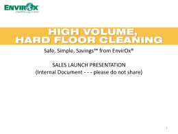 Sales Launch Presentation