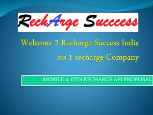Proposal - Mobile Recharge API