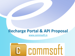 Proposal - Mobile Recharge API