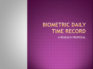 Biometric Daily Time Record