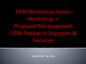 Workshop 1 Slides - Social Science Research Institute
