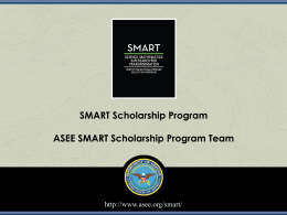 (SMART) Scholarship Program and Tips for