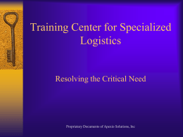 Training Center for Specialized Logistics