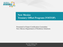 NMTOP - New Mexico Department of Information Technology