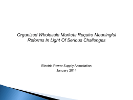 (DRAFT EPSA CEO FERC SLIDES) - The Electric Power Supply
