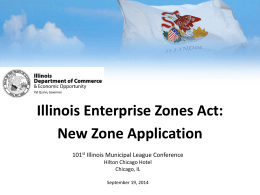 this Presentation - Enterprise Zone Data Assistance