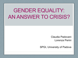 Gender equality: an answer to crisis?