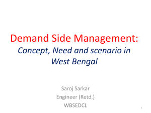 Demand Side Management* Concept and Need For It.