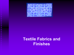 Part 2: Textile/Apparel Building Blocks
