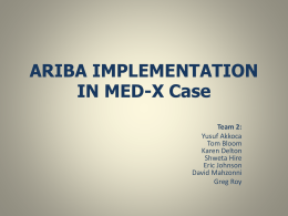 ARIBA IMPLEMENTATION IN MED
