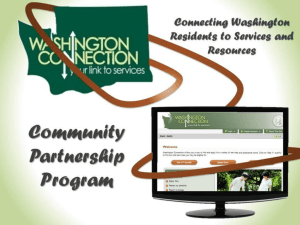 Washington Connection Training - WCOMO – Washington Coalition