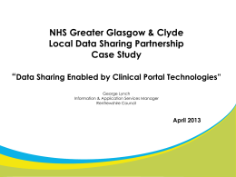 Data Sharing Enabled by Clinical Portal Technologies