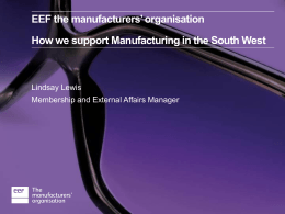 How EEF supports manufacturers